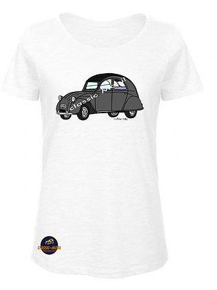 2 CV AZA /  T-Shirt Femme coton BIO
