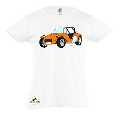 Caterham orange / Tee-shirt coton Fille