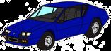 Alpine A310 V6 bleue