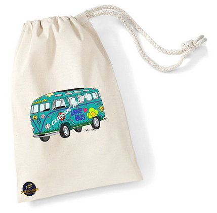 Love Bus / Sac pochon coton bio