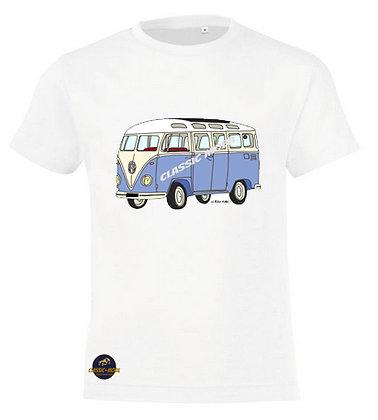 Van bleu / Tee-shirt coton Garçon