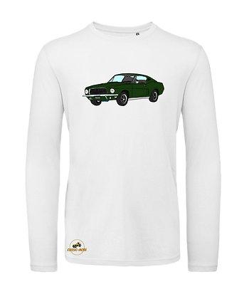 Ford Mustang Bullitt / Tee shirt Homme manche longue coton BIO