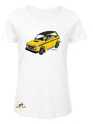 Lada Niva Tsarina jaune / T-Shirt Femme coton BIO