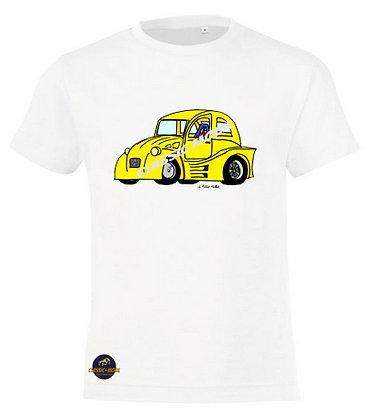 2 CV dragster / Tee-shirt coton Garçon