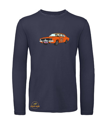 Dodge Charger - Dukes of Hazzard / Tee shirt Homme manche longue coton BIO