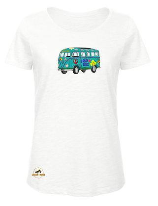 Volkswagen Combi Split Love Bus / T-Shirt Femme coton BIO