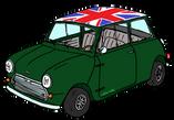 Austin MINI Union Jack vert anglais