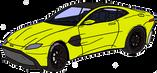 Aston Martin V8 Vantage jaune
