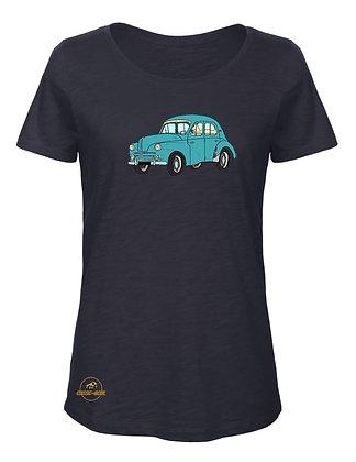 Renault 4 CV verte / T-Shirt Femme coton BIO