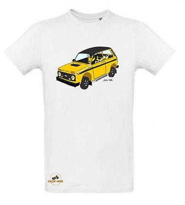 Lada Niva Tsarina jaune / Tee shirt Homme coton BIO