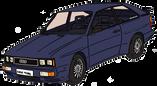 Audi QUATTRO coupé bleue