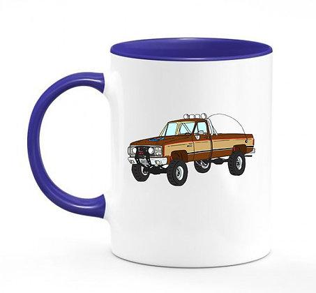 GMC Sierra Grande - Fall Guy / mug bicolore bleu marine