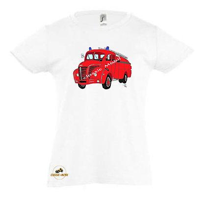 Berliet GLC pompier / Tee-shirt coton Fille