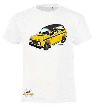 Lada Niva Tsarina jaune / Tee-shirt coton Garçon