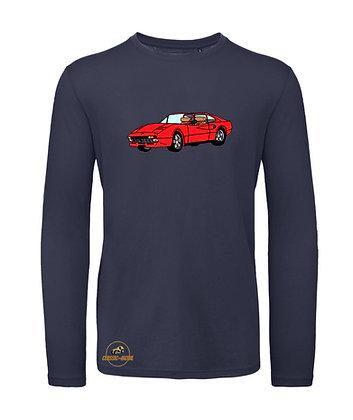 Ferrari 308 - Magnum / Tee shirt Homme manche longue coton BIO