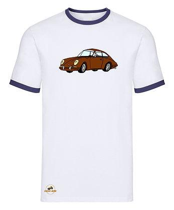 Porsche 911 marron / Tee shirt Homme vintage