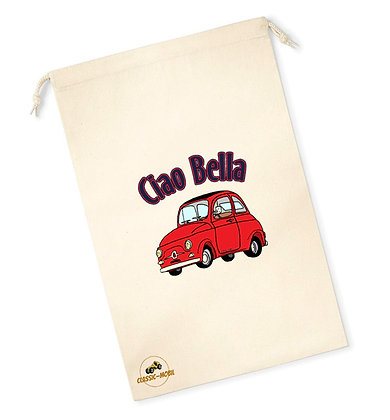 Fiat 500 Classic - Ciao Bella / Sac pochon coton bio