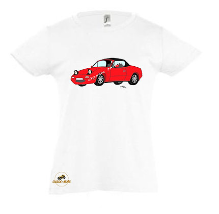 Mazda MX5 NA rouge / Tee-shirt coton Fille