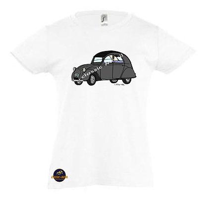 2 CV AZA / Tee-shirt coton Fille