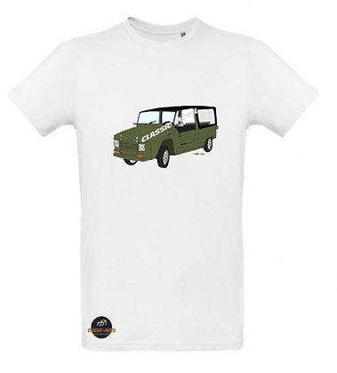 Méhari kaki / Tee shirt Homme coton BIO