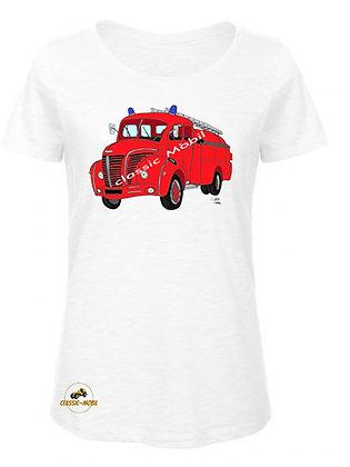 Berliet GLC pompier / T-Shirt Femme coton BIO