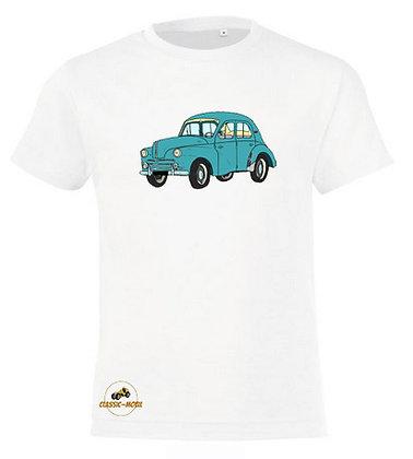Renault 4 CV verte / Tee-shirt coton Garçon