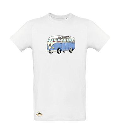 Volkswagen Combi Split bleu / T-shirt Homme coton BIO