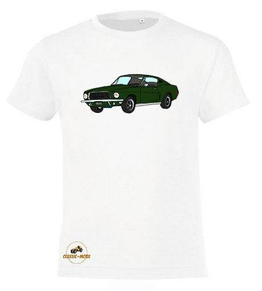 Ford Mustang Bullitt / Tee-shirt coton Garçon