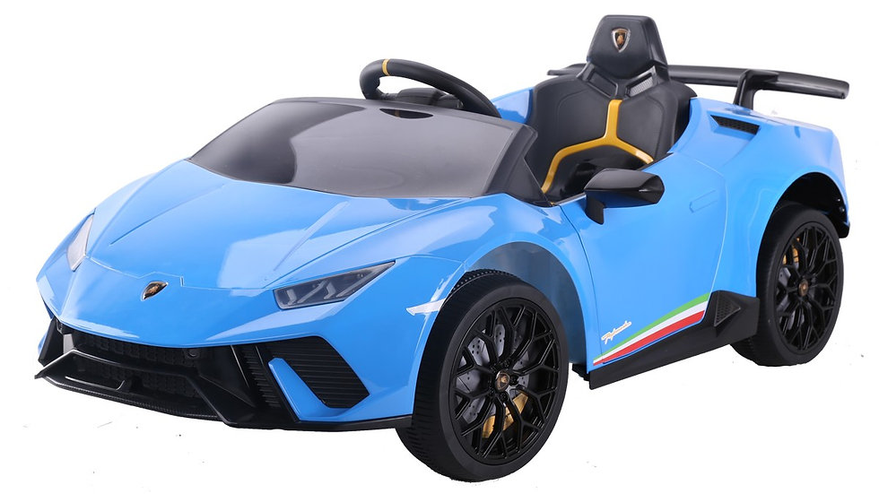 12V Licensed Lamborghini Huracan Ride On Car - Blue