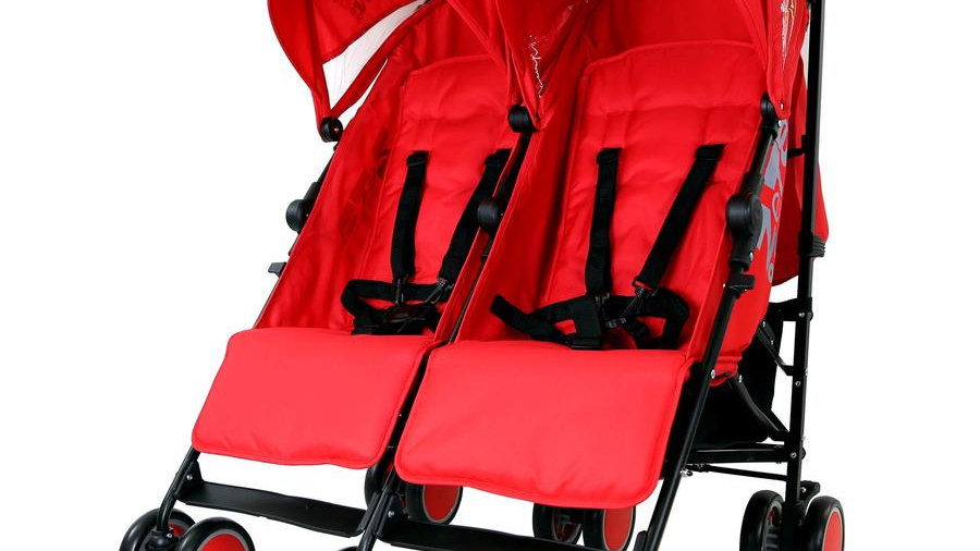 Zeta CiTi Twin Stroller - (Red)