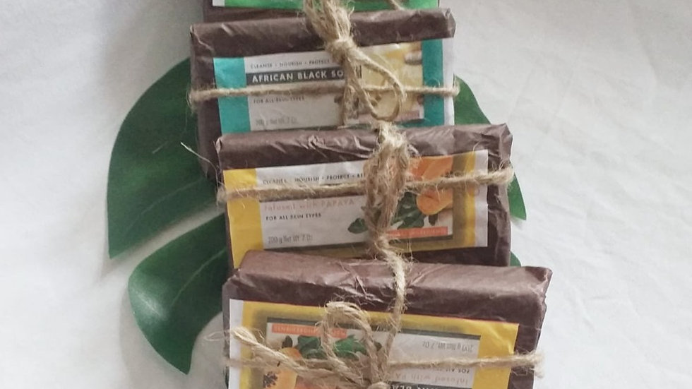 African Black Soap with Essential oil Range 200ml