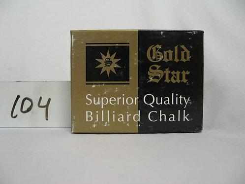 Gold star Billiard chalk