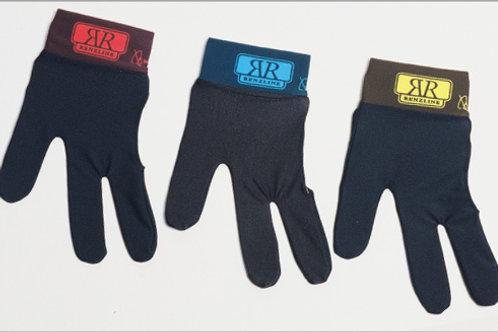 Handschoen Renzline zwart, klittenband met kleur