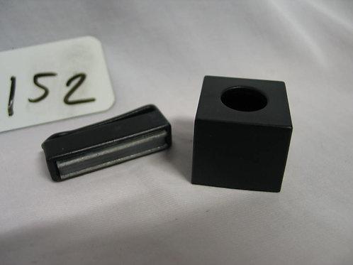Zwarte krijthouder inclusief magneetklem