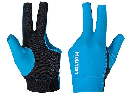 Handschoen Molinari cyaan/zwart