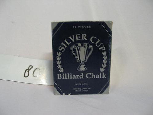 Silver cup billiard chalk sealed