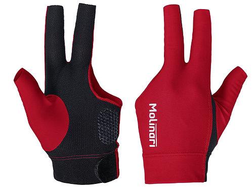 Handschoen Molinari rood/zwart