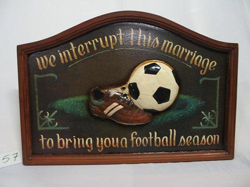 Wandbord met voetbal opdruk
