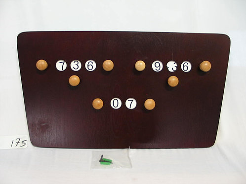 Vlinder modellen scorebord