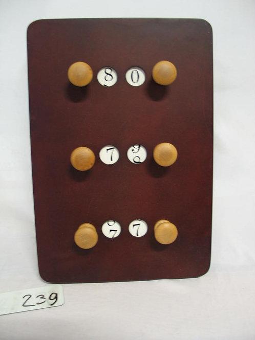 Scorebord rechtop kersen