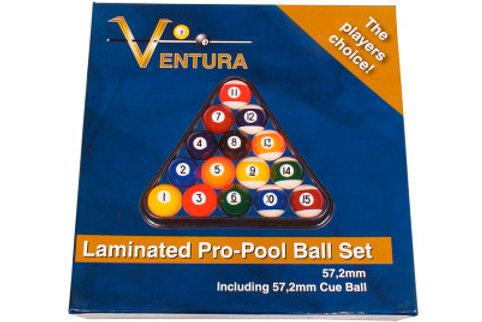 Laminated poolball set