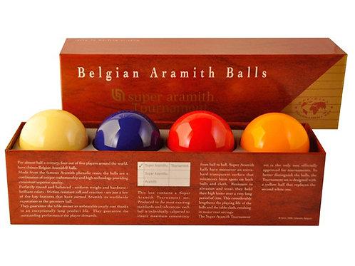 Super Aramith Tournament set met 4 ballen