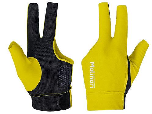 Handschoen Molinari geel/zwart