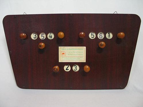 Scorebord hout cijfers vervaagd