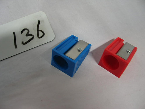 Puntenslijpers in blauw en rood