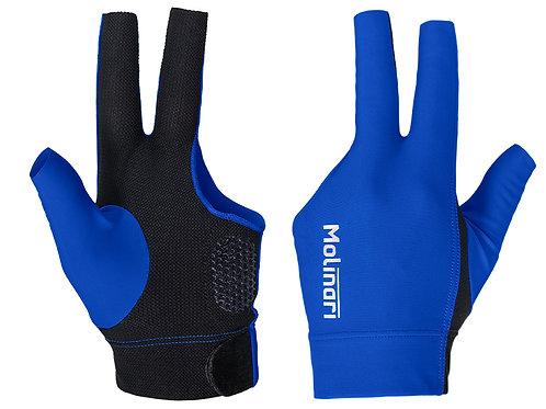 Handschoen Molinari koningsblauw/zwart