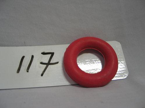 Ring rubber rood voor golfbiljart