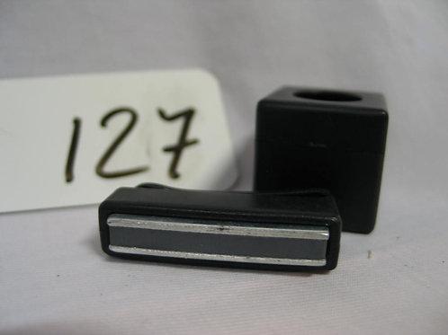 Chalkholder zwart met magneetklem voor aan de broek