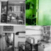 vitrine et photos de l'atelier