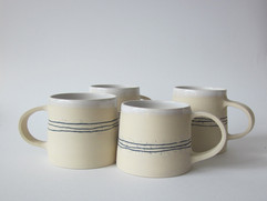 tasses grès blanc